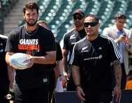 San Francisco Giants, S.F. Giants, photo, 2013, All Blacks, George Kontos, Aaron Smith
