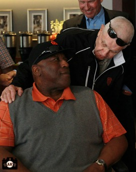 San Francisco Giants, S.F. Giants, photo, 2013, Lon Simmons, Willie McCovey
