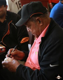 San Francisco Giants, S.F. Giants, photo, 2013, Lon Simmons, Willie Mays