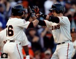 San Francisco Giants, S.F. Giants, photo, 2013, Andres Torres and Buster Posey