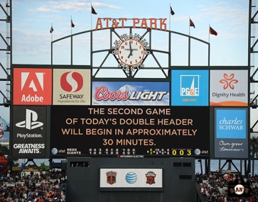 july 23, 2013, sf giants, photo, scoreboard