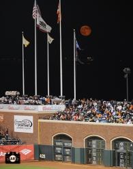 july 23, 2013, sf giants, photo, moon