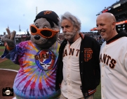 San Francisco Giants, S.F. Giants, photo, 2013, Grateful Dead, Lou Seal, Bob Weir , Tom Flannery