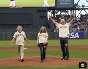 San Francisco Giants, S.F. Giants, photo, 2013, Grateful Dead, Bob Weir, Trixie Garcia, Bill Walton