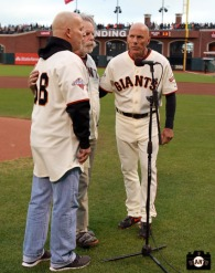 San Francisco Giants, S.F. Giants, photo, 2013, Grateful Dead, Tom Flannery, Bob Weir, Tim Flannery