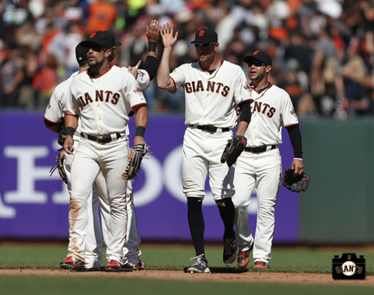 San Francisco Giants, S.F. Giants, photo, 2013, Andres Torres, Hunter Pence, Gregor Blanco