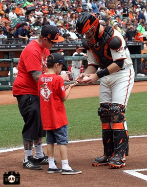 San Francisco Giants, S.F. Giants, photo, 2013, Junior Giants, Buster Posey