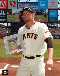 San Francisco Giants, S.F. Giants, photo, 2013, Heart and Hustle Award, Hunter Pence
