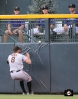 hunter pence, ,runs into wall, colorado, coors field, colorado rockies, photo, sf giants right field