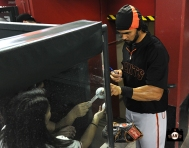 August 30, 2013, sf giants, angel pagan, first game back, arizona diamondbacks, chase field, first at bat