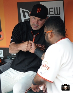 2013, sf giants, photo, bruce bochy, pablo sandoval