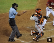 umpire, hector sanchez, september 1, 2013, sf giants, photo