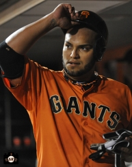 yusmerio petit, september 6, 2013, sf giants, photo, almost a perfect game, 1 hitter, complete game, fans