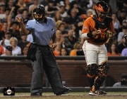 hector sanchez, yusmerio petit, september 6, 2013, sf giants, photo, almost a perfect game, 1 hitter, complete game