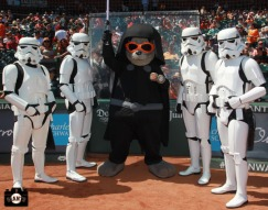 San Francisco Giants, S.F. Giants, photo, 2013, Star Wars, Lou Seal