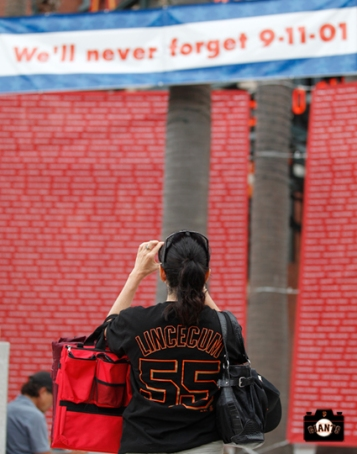 sf giants, photo, remembering 9/11