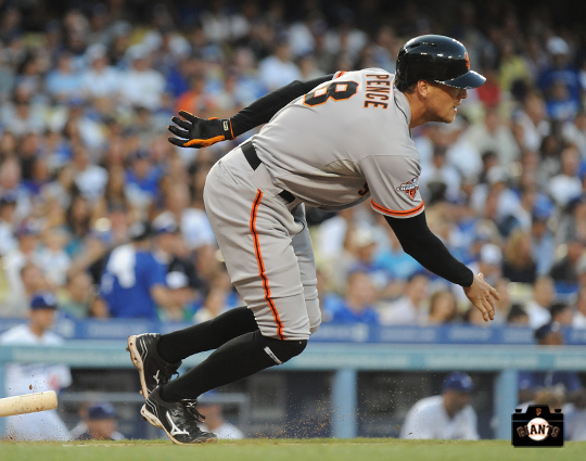 september, 2013, sf giants, hunter pence, photo, player of the week
