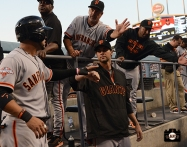 ryan vogelsong, ron wouts, september 14, 2013, sf giants, photo, score 19 runs, dodgers