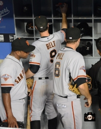 brett pill, september 14, 2013, sf giants, photo, score 19 runs, dodgers