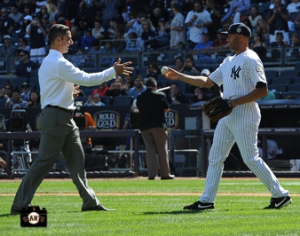 mariano rivera retirement ceremony, exit sandman, september 22, 2013, sf giants, photo, new york yankee, yankee stadium