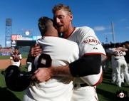 San Francisco Giants, S.F. Giants, photo, 2013, Pablo Sandoval, Hunter Pence