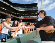San Francisco Giants, S.F. Giants, photo, 2013, Fans, Michael Kickham