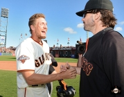 San Francisco Giants, S.F. Giants, photo, 2013, Hunter Pence, Barry Zito