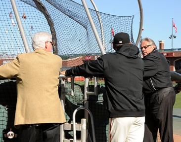 San Francisco Giants, S.F. Giants, photo, 2013, Duane Kuiper, Mike Krukow, Bruce Bochy