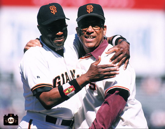 sf giants, photo, dusty baker, orlando cepeda