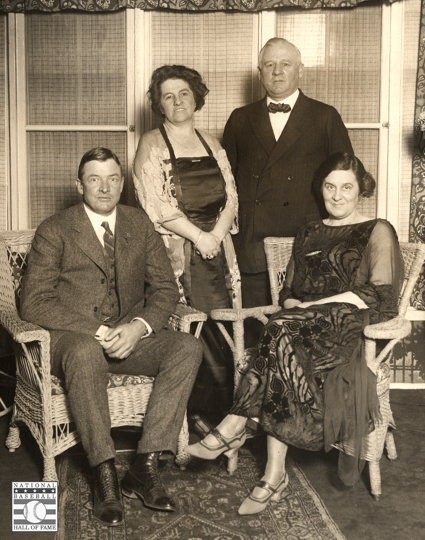 john mcgraw, blanche mcgraw, christy mathewson, jane mathewson, pelham manor, ny giants, photo, sf giants, family