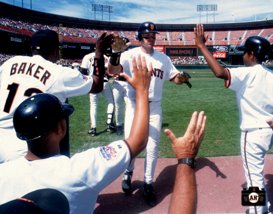 jt snow, candlestick park, sf giants, photo, nikolai bonds, dusty baker