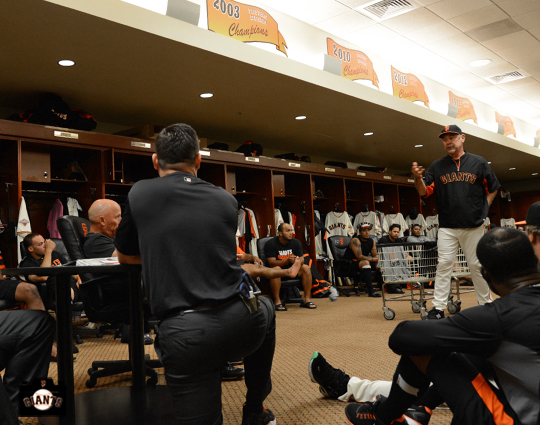 sf giants, september 29, 2013, team meeting