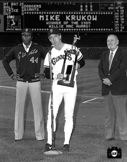 willie mccovey, mike krukow, sf giants, photo