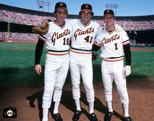 duane kuiper, sf giants, photo, darryl evans, jim wohlford