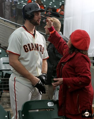 San Francisco Giants, S.F. Giants, photo, 2014, Brandon Belt