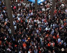 2014 SF Giants, photo, fan fest, at&T park, fans