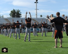 2014 sf giants, photo, spring training, stretching, photo