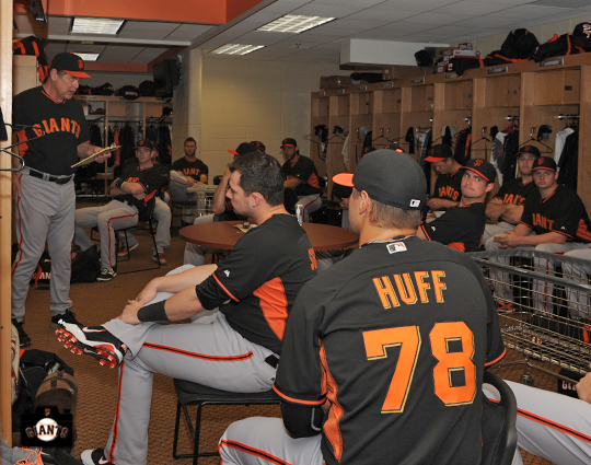 Team Meeting – SF Giants Photos