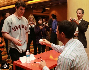 San Francisco Giants, S.F. Giants, photo, 2013, Giants Community Fund, Play Ball Lunch, Brandon Belt