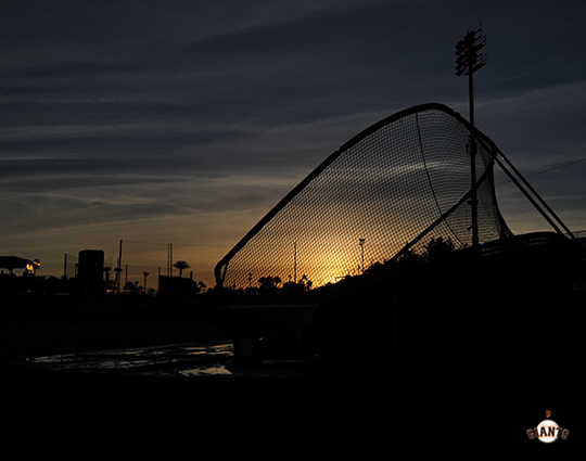 2014 sf giants, photo, scottsdale stadium, sunrise,