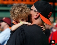 fans, sf giants, arizona, scottsdale, scottsdale stadium, photo, sf giants