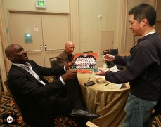San Francisco Giants, S.F. Giants, photo, 2013, Giants Community Fund, Play Ball Lunch, Roberto Kelly, Tim Flannery