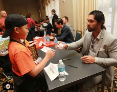 San Francisco Giants, S.F. Giants, photo, 2013, Giants Community Fund, Play Ball Lunch, Angel Pagan