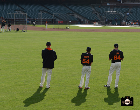 2014 sf giants, at&T park, team, batting practice