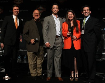Dave Flemming, Jon Miller, Buster Posey and Craig Alexander Induct Heather Grigsby into the Junior Giants Hall of Fame