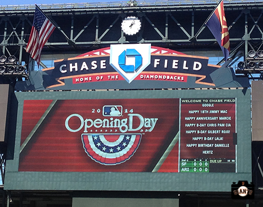 2014 sf giants,, photo, opening day