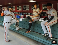 Brandon Crawford, Matt Cain & Tim Flannery