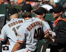 Tim Hudson, Madison Bumgarner, Matt Cain & Ryan Vogelsong