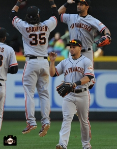Brandon Crawford & Angel Pagan