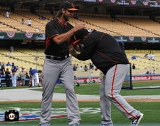 Madison Bumgarner & Hector Sanchez